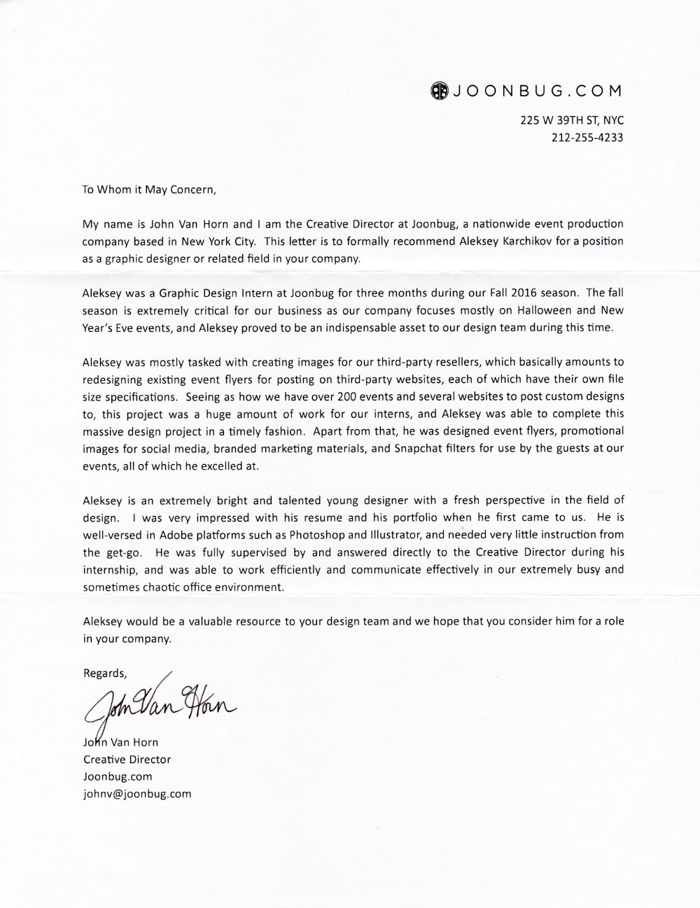 graphic designer letter of recommendation gallery letter samples